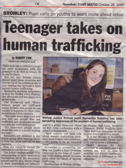 articles trafficking human